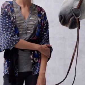 ANTHROPOLOGIE | Guinevere geo fleur cardigan 0153